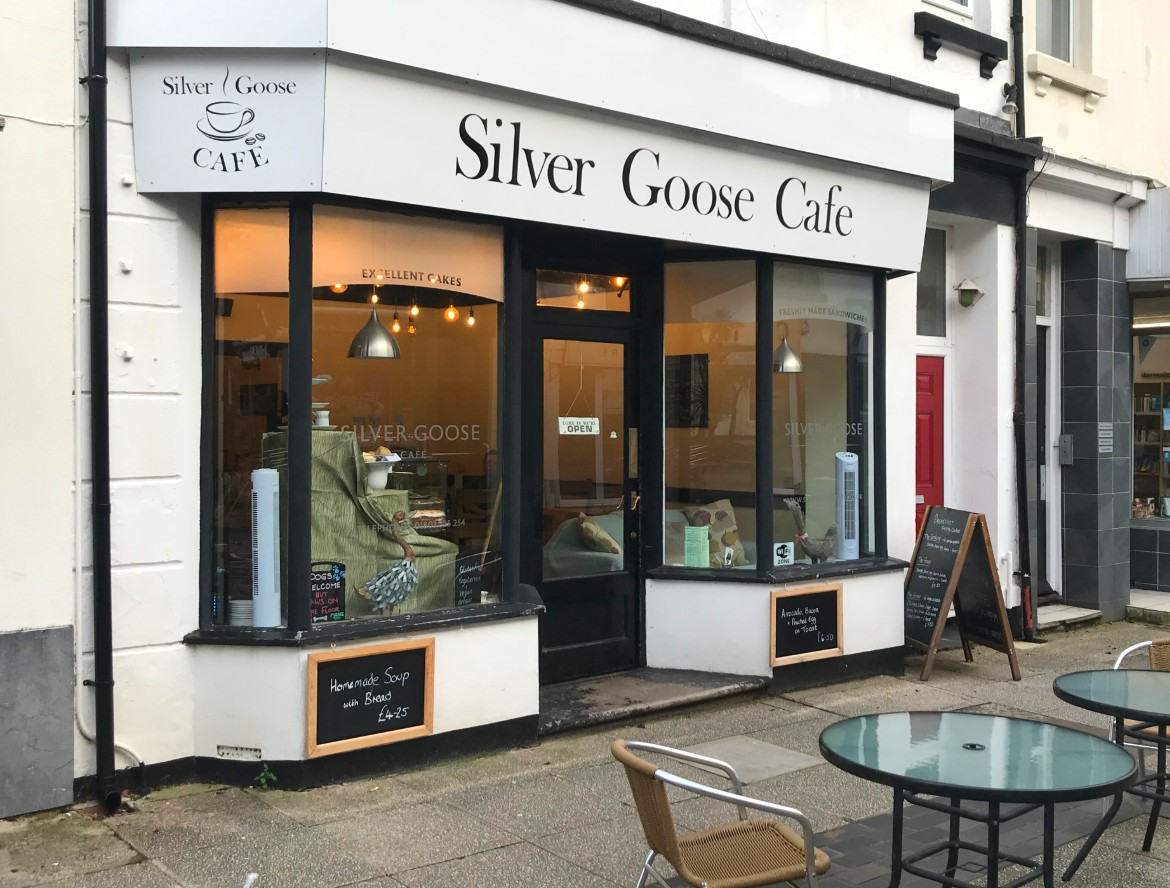 The Silver Goose Cafe in St Marychurch, Torquay - dog friendly cafe.